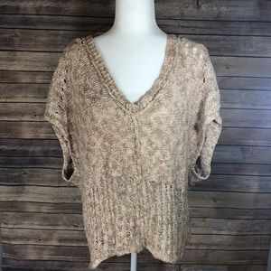 Free people sweater size large cap sleeve